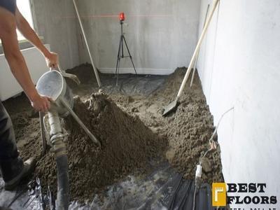 цементный раствор полусухой стяжки